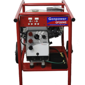 GP200W E, 7KVA, 200A SINGLE PHASE, PETROL DRIVEN GENERATOR WELDER WITH ELECTRIC START